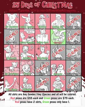25 Days of Christmas YCH Advent Calendar~