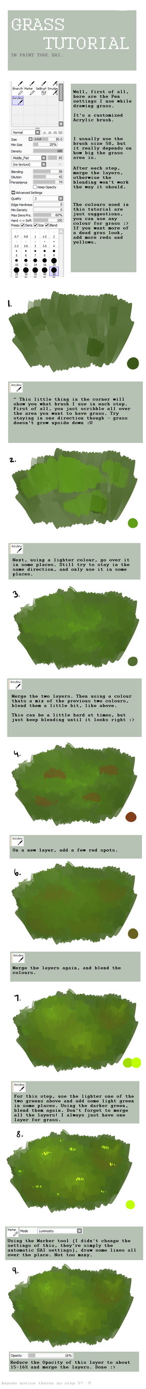 Grass Tutorial OLD by Isihock
