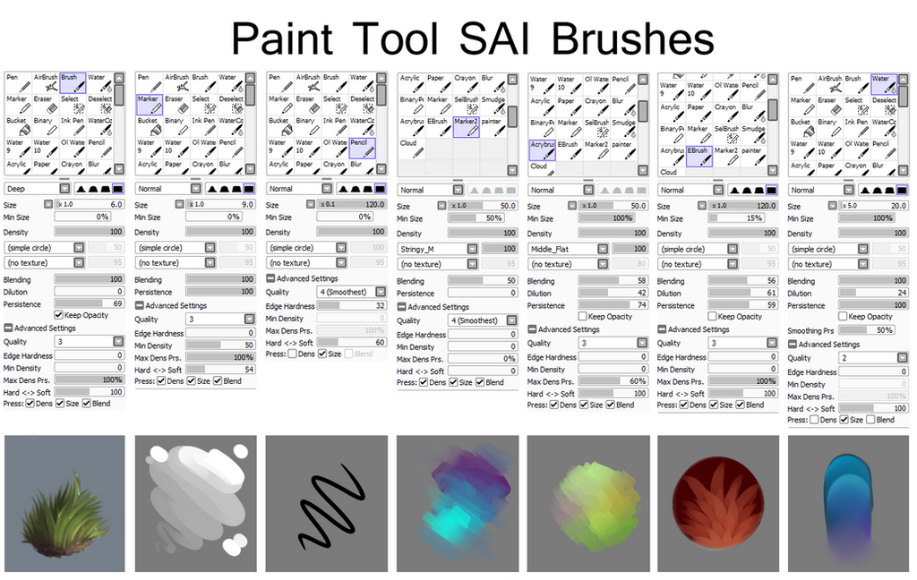 sai brushes by isihock dgpx