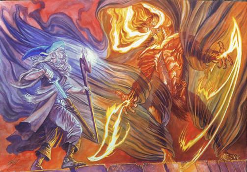 Mithrandir vs The Balrog. Original for sale.