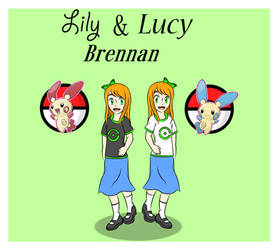 {AT} Lily and Lucy Brennan by Bel-TheSweet-Sylveon