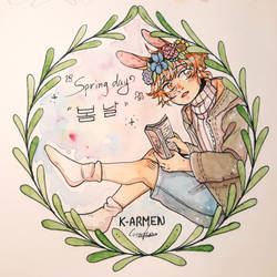 Traditional drawing (GIFT) - Krem's Spring Day
