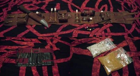LARP-stuff: Khajiit thief belt