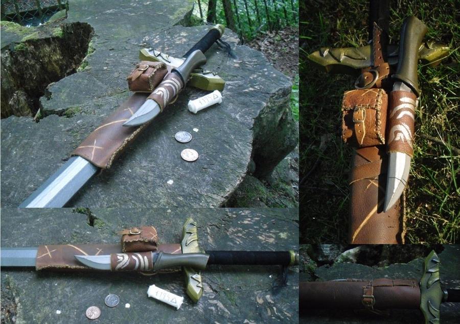 LARP-stuff: Sword-sheath by dcsnijders