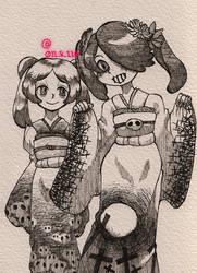 [Skullgirls]Happy New Year2015 by 011-8-110