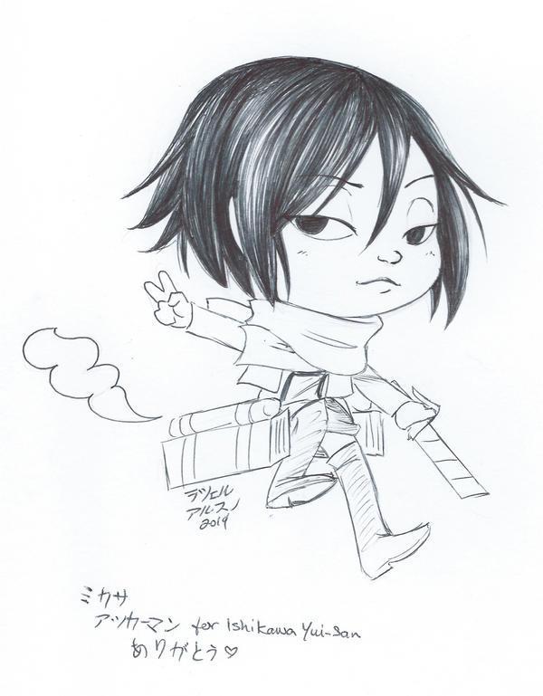 Chibi Mikasa by mazoku-chan