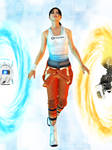 Portal 2: Chell with GLaDOS and Wheatley