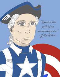 John Adams as Captain America