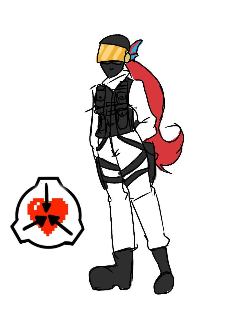SCP-Tale Ref: MTF Nine Tailed Fox Leader Undyne by kiichiise