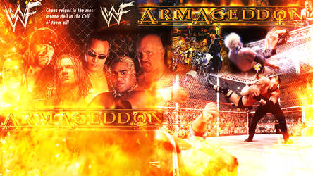 Armageddon hell in a cell by barrymk100
