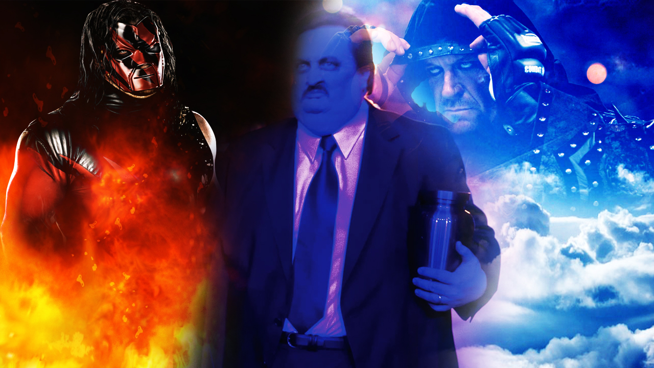 Kane Paul Bearer and Undertaker by barrymk100Undertaker And Paul Bearer