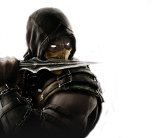 Mortal Kombat X - Scorpion render by barrymk100