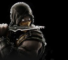 Mortal Kombat X - Scorpion render by barrymk100