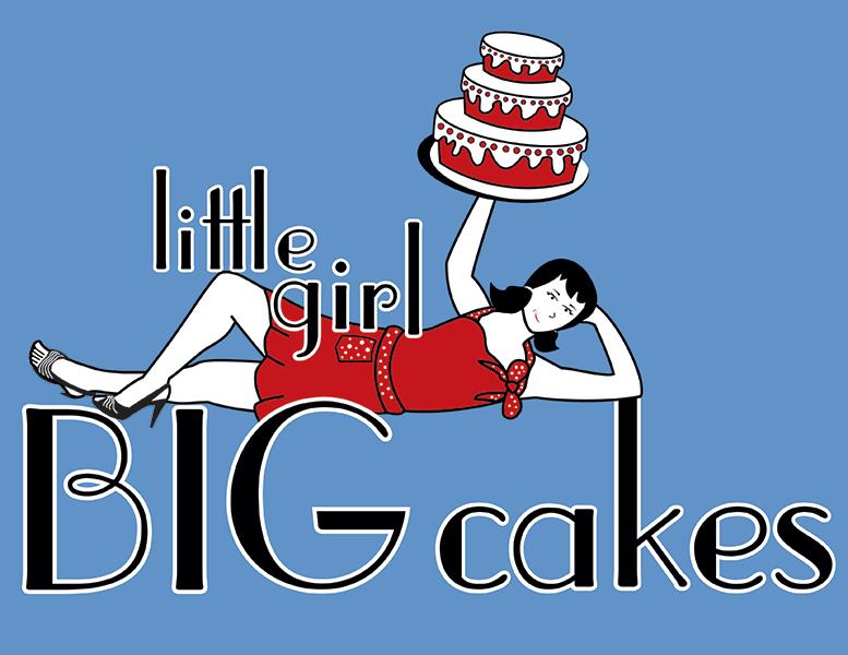 Little Girl BIG Cakes Logo by bluegoddess16