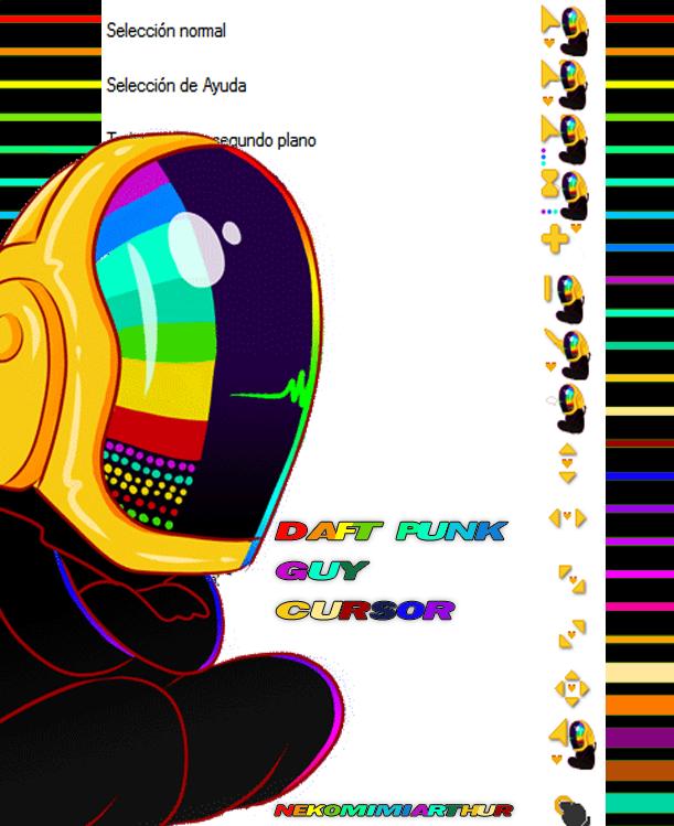 Daft Punk Guy cursor ByNekomimiArthur by Nekomimiarthur