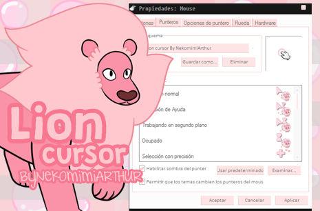 (Steven Universe) Lion cursor ByNekomimiArthur