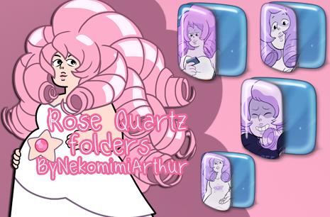 Rose Quartz Folders ByNekomimiArthur by Nekomimiarthur