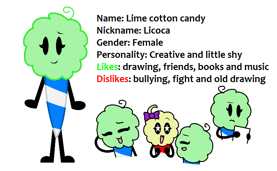 New oc: Lime cotton candy by SkyMeowCute