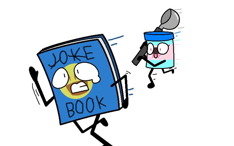 RUN JOKE BOOK RUN! by SkyMeowCute