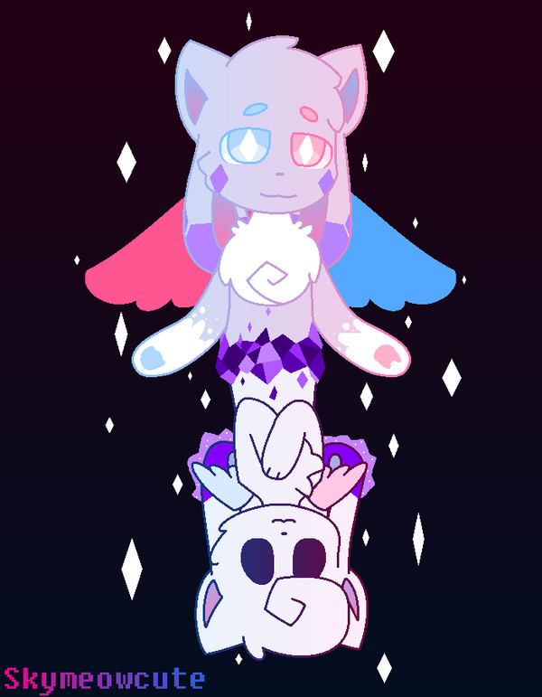 Crystal and Cruffle by SkyMeowCute