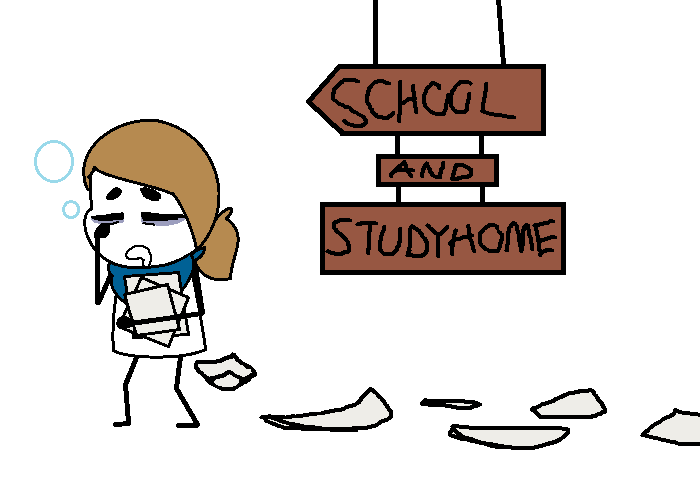 School and study home by SkyMeowCute