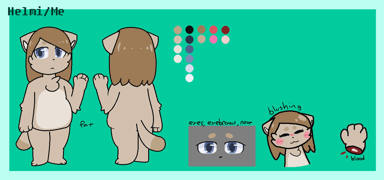Helmi/Me (reference) by SkyMeowCute
