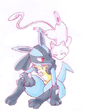 Lucario and Mew by abelisk14 on DeviantArt Mew And Lucario
