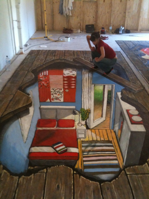 3d illusions under the floor by man of world on deviantart for Floor illusions