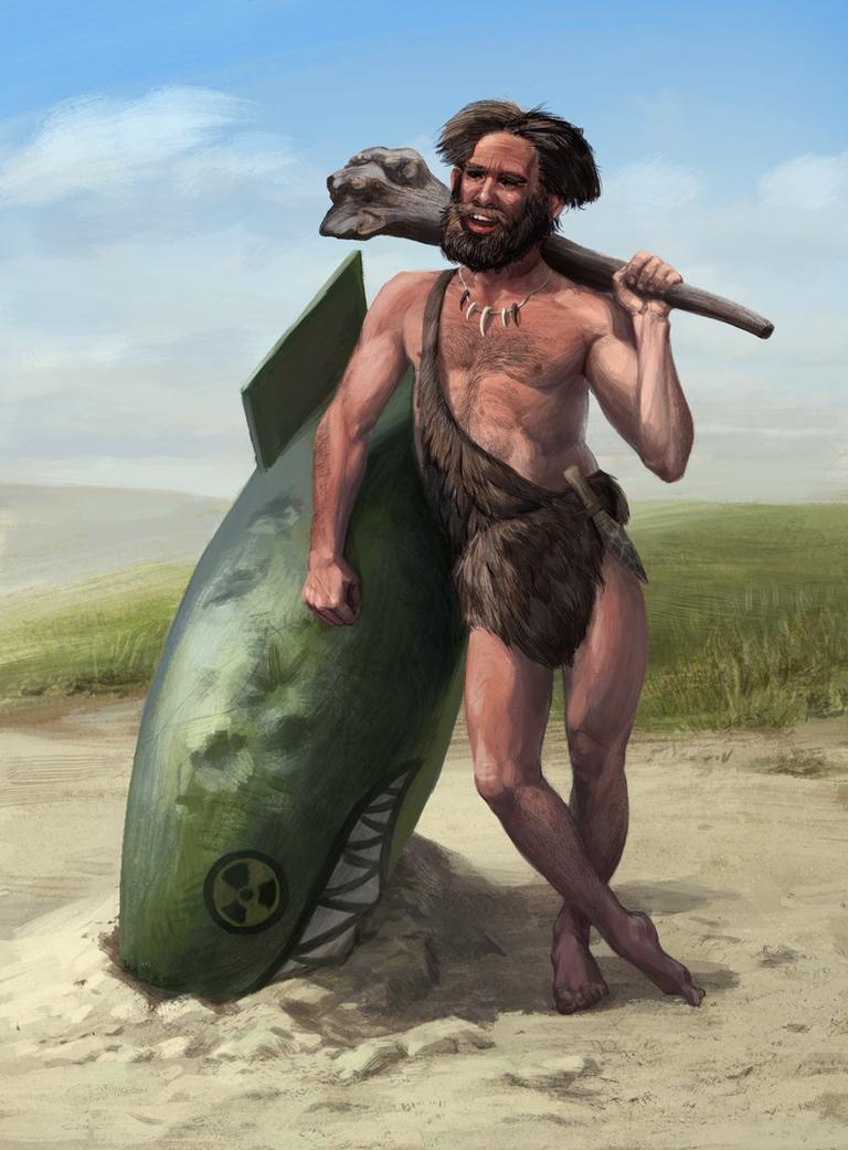 stone age man by Atenebris