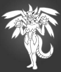 hydreigon girl cosplay 1
