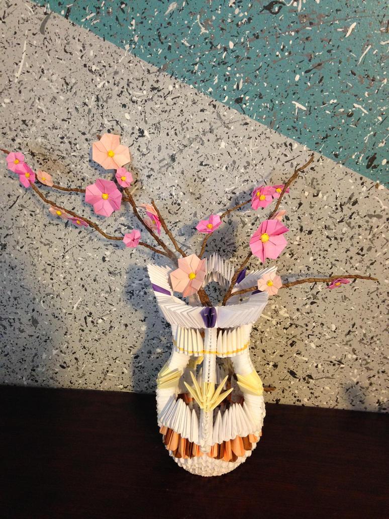 3d origami flower vase by doodlenoodle2173 on deviantart 3d origami flower vase by doodlenoodle2173 mightylinksfo