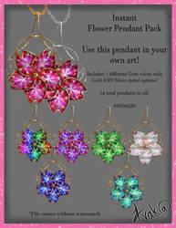 Flower Pendant Addon by AvakiaIMVU