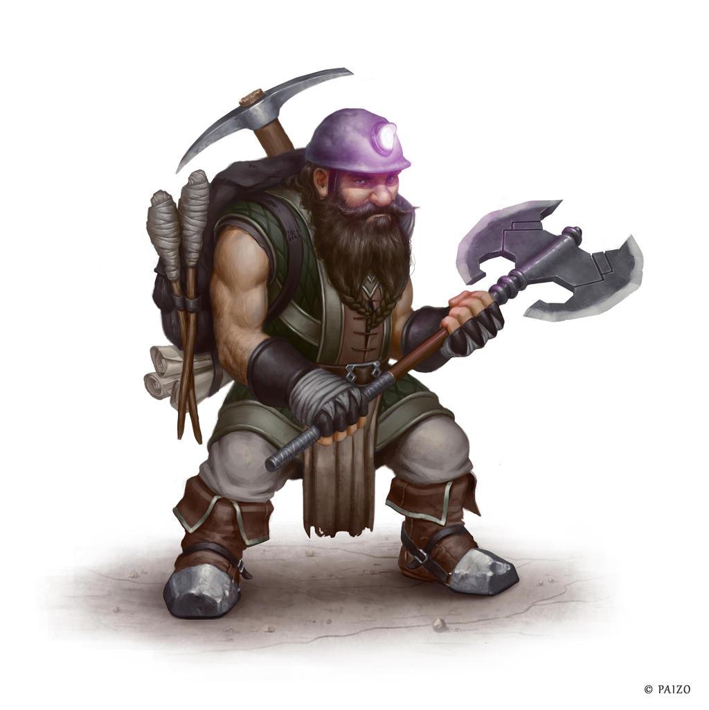 Dwarf Miner by Greg-Opalinski