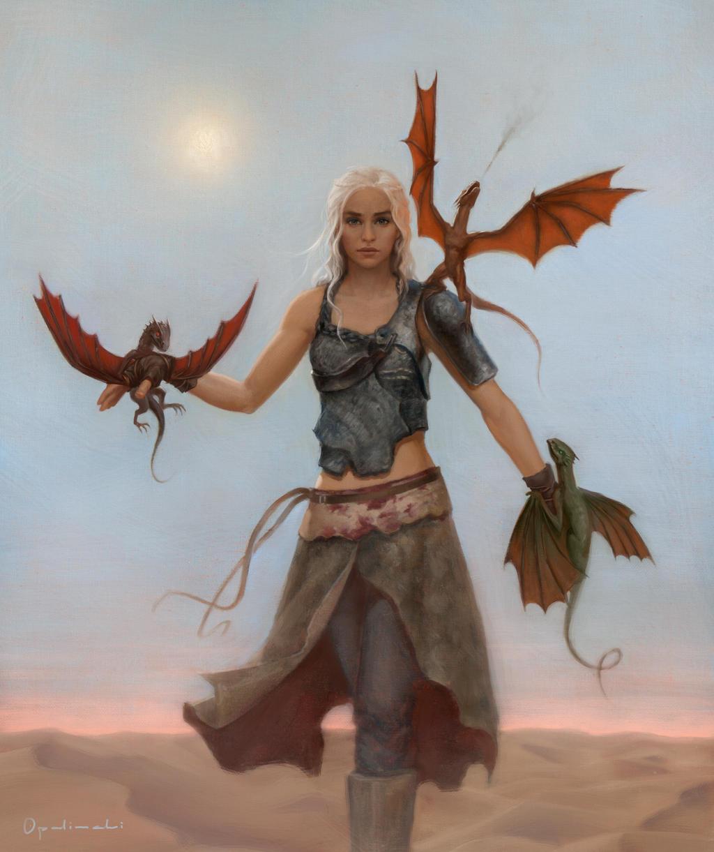 La gran boda de Chulann O´Connor Daenerys_stormborn_by_greg_opalinski-d668ssy