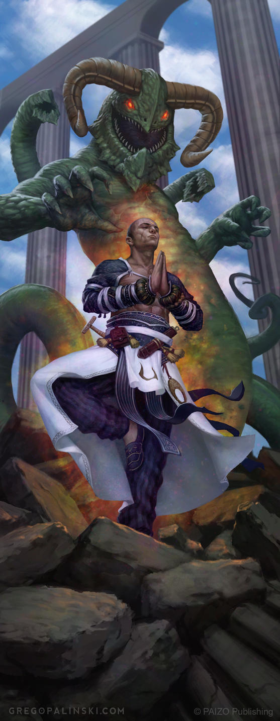 Monk vs Protean by Greg-Opalinski