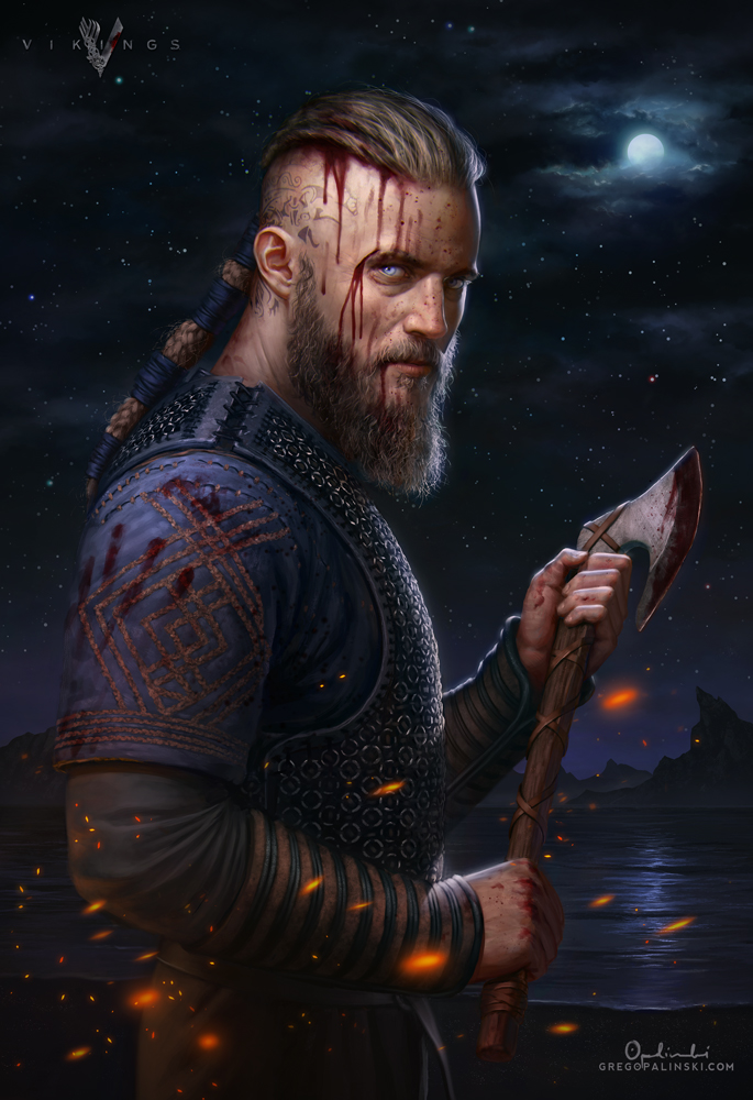 Ragnar Lothbrok - Vikings by Greg-Opalinski