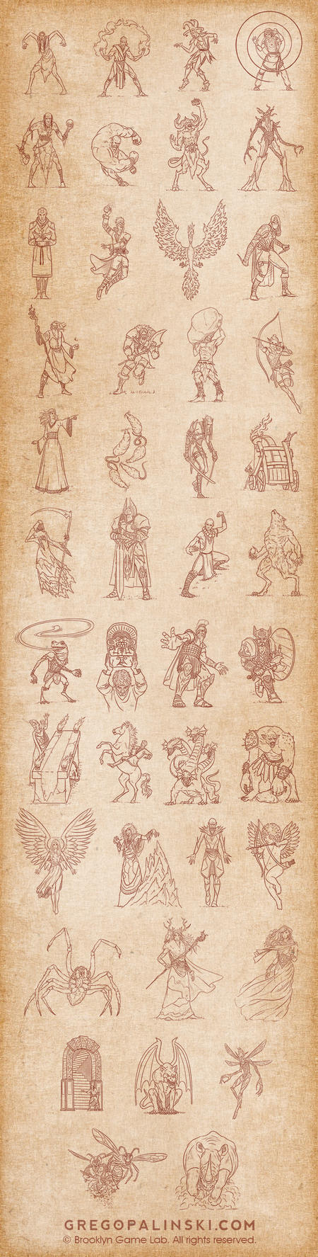 Character sketches by Greg-Opalinski