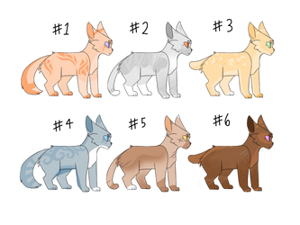 Adoptables(CLOSED) by Feathermist328