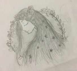Flower goddess by Feathermist328
