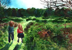 Walking through the fields