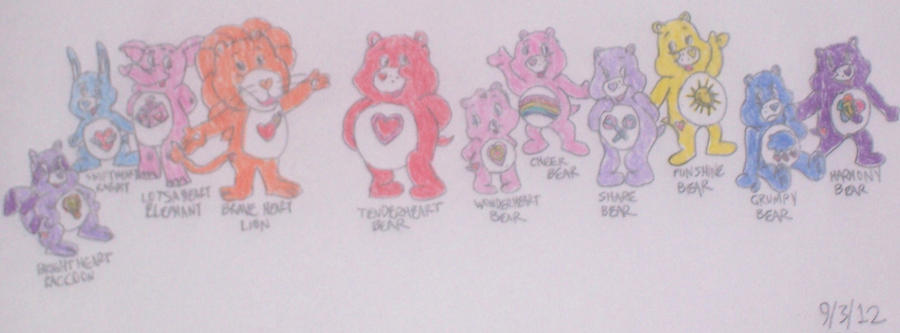 Care Bears and Care Bear Cousins by ChipmunkRaccoon2