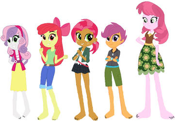 Barefoot Equestria Girls CMC by ChipmunkRaccoonOz