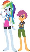 Equestria Girls Rainbow Dash and Scootaloo