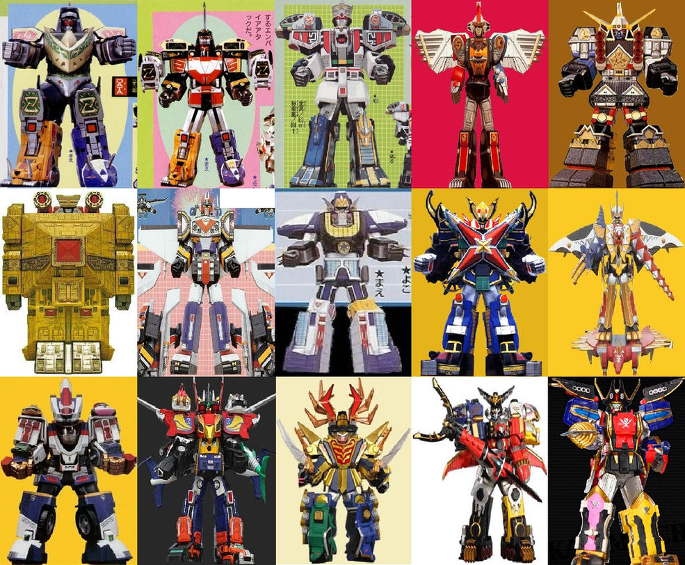 Megazords combined with 6th Ranger Megazords by ...