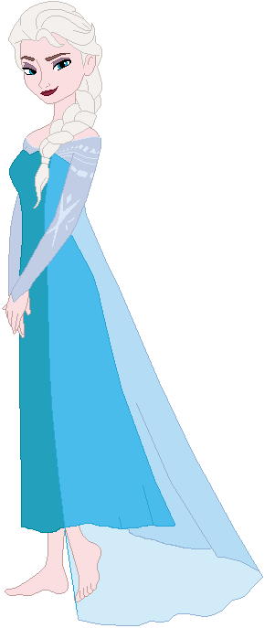 Disney's Snow Queen Elsa Without Shoes by ChipmunkRaccoon2