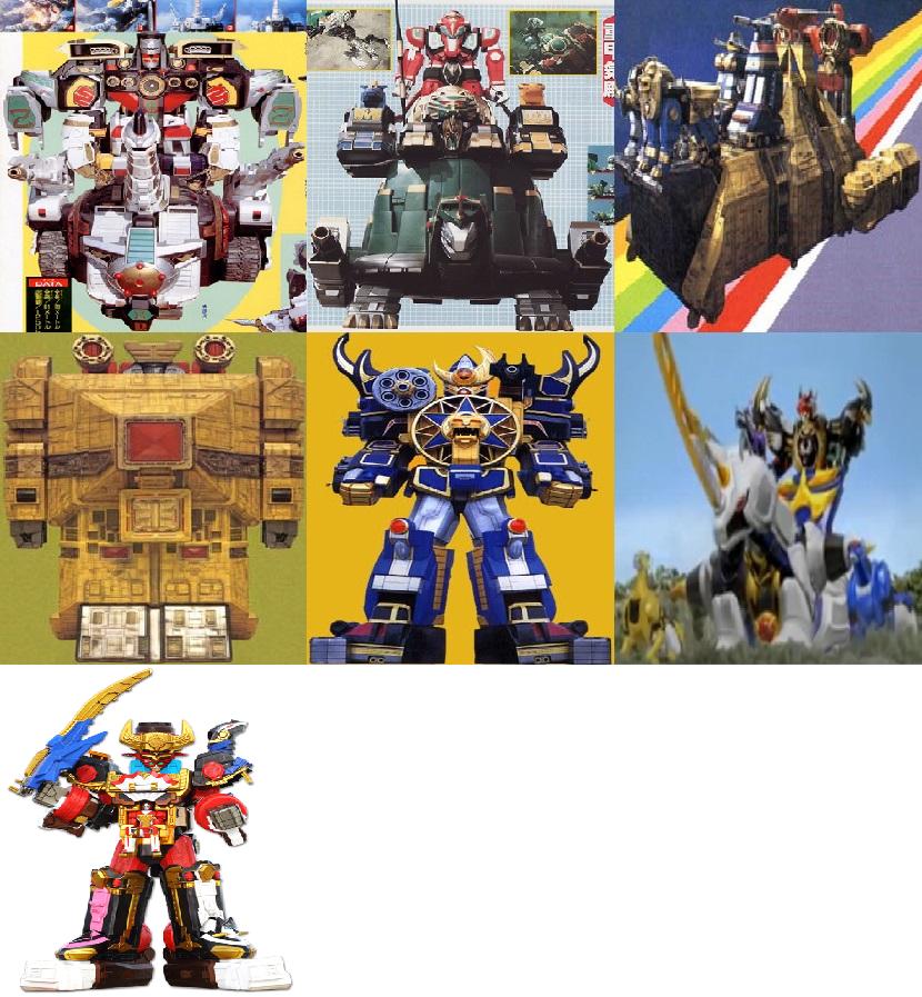 Seven-Piece Megazords By ChipmunkRaccoonOz On DeviantArt