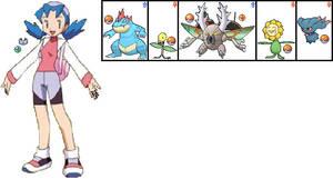 Marina Crystal's Team in Pokemon Aura by ChipmunkRaccoonOz