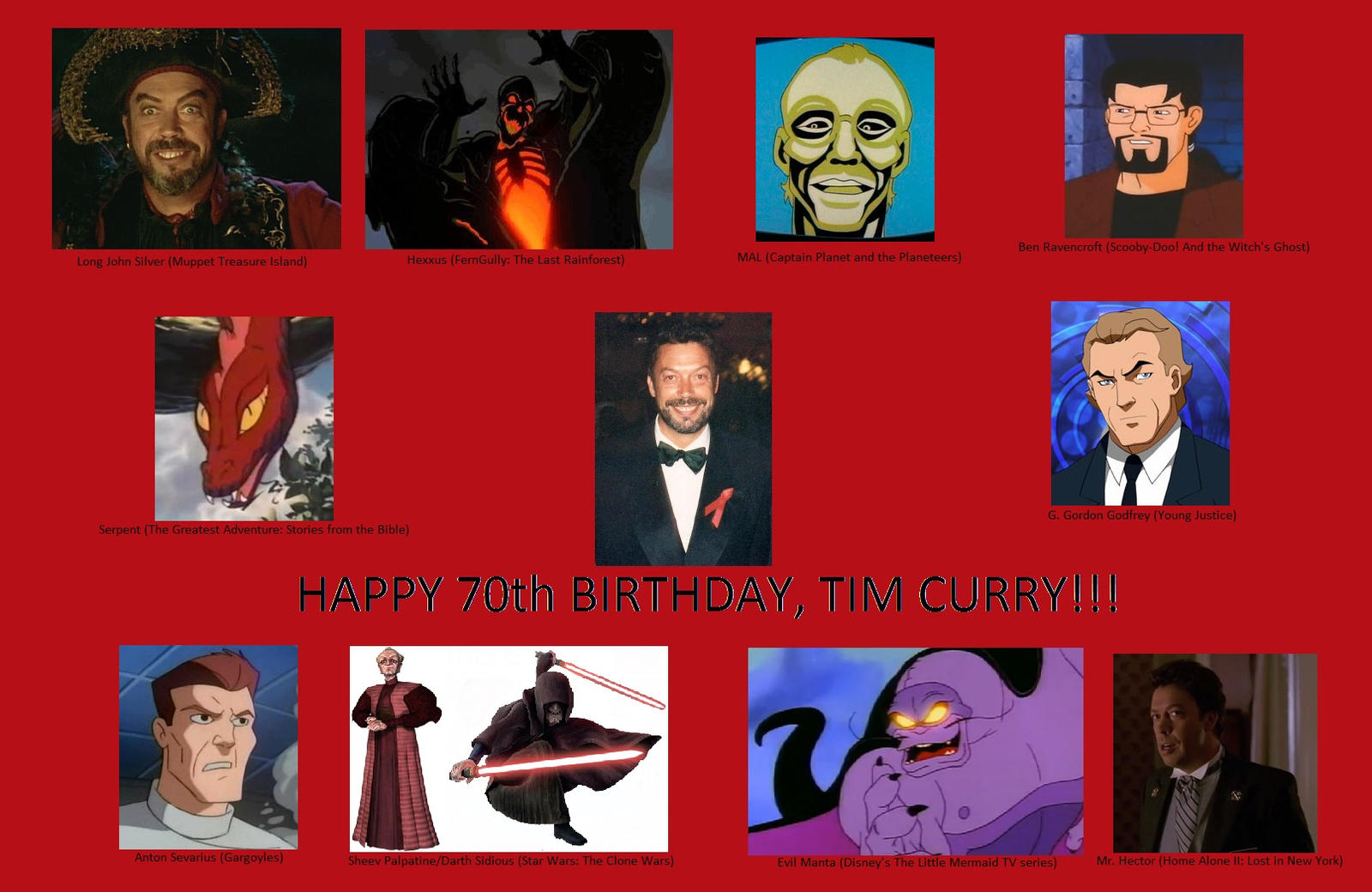 Tim Curry Cartoon