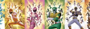 All Ranger Colors - Mighty Morphin - S-Ninja Steel