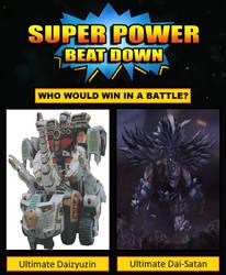 SPBD: Ultimate Daizyuzin vs Ultimate Dai-Satan by ChipmunkRaccoonOz